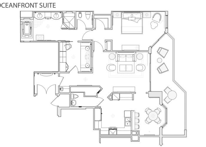 One-Bedroom Oceanfront Hotel Suite