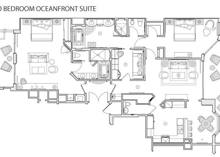 Two-Bedroom Oceanfront Hotel Suite